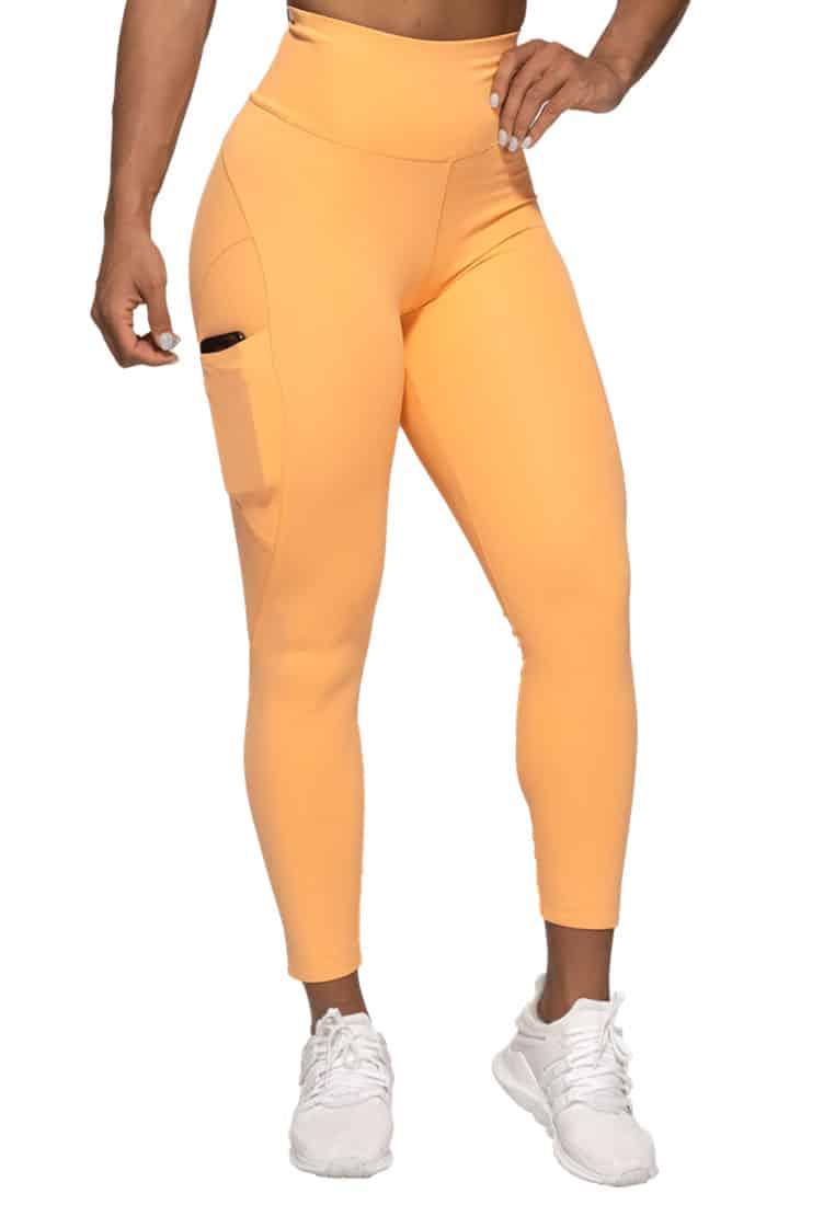 legginsy-do-jogi-z-wysokim-stanem-pomaranczowe