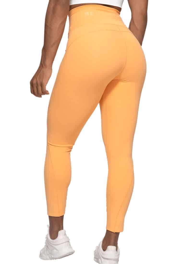 legginsy-fitness-z-wysokim-stanem-pomaranczowe
