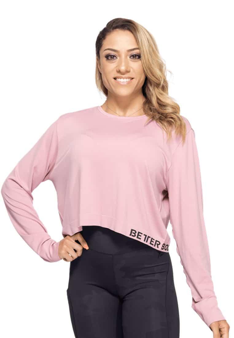 bluzka-damska-luzna-rozowa-fitness