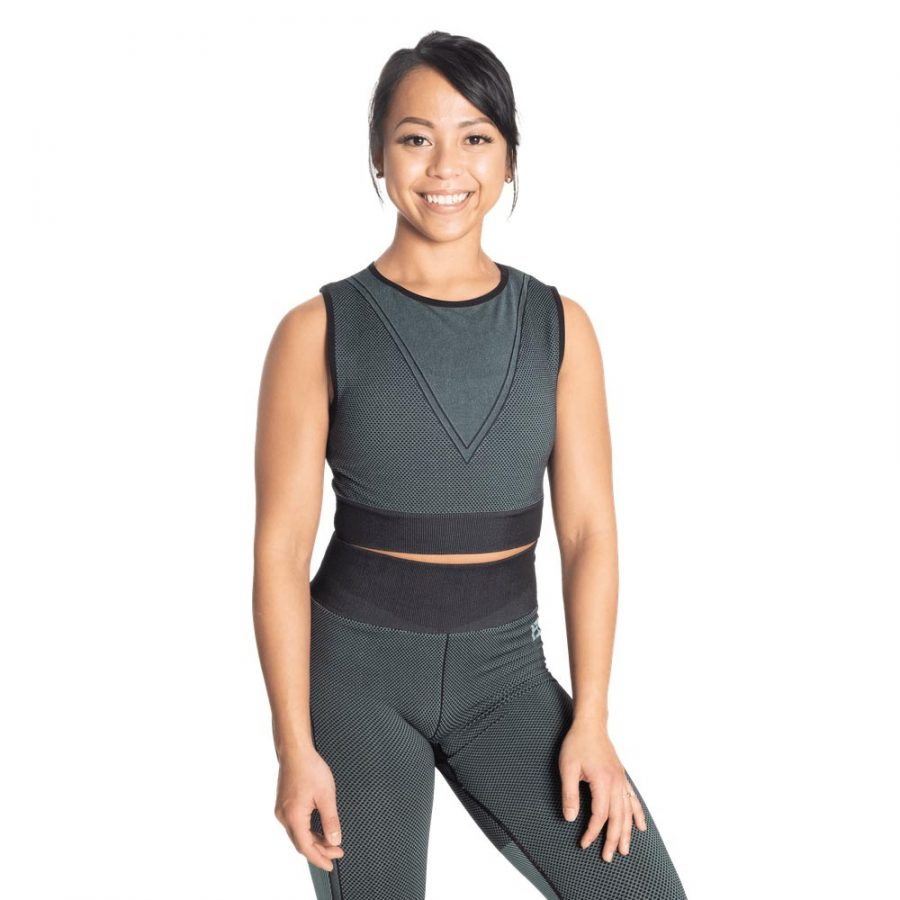 Better Bodies Roxy Seamless Top Teal Green
